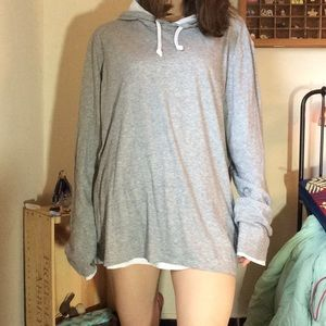 Vince Camuto Shirts - VINCE Grey Stretchy Light Weight Hoodie Sweatshirt